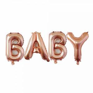 BABY Rose Gold Foil Letter Balloons 17 inch