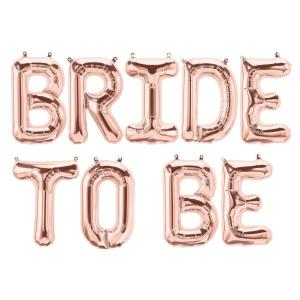 Bride To Be Rose Gold Foil Letter Balloons 17 inch