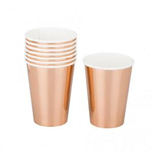 Rose Gold Paper Cups (8)