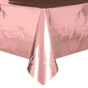 Rose Gold Foil Table Cover