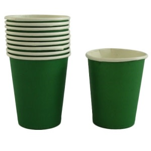 Dark Green Paper Cups (10)