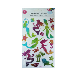 Mermaid Glitter Stickers