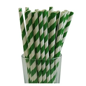 Green Party Straws (25)
