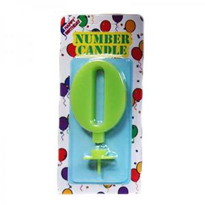 Green Number Candle 0