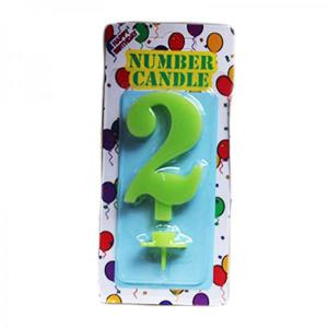 Green Number Candle 2