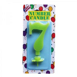 Green Number Candle 7