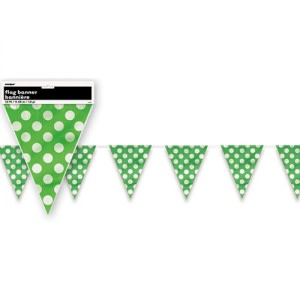 Lime Green Dotted Bunting