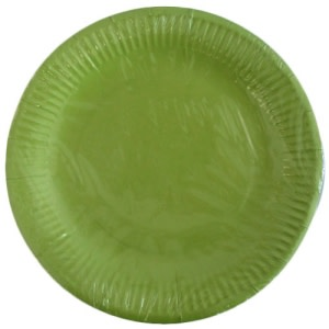Lime Green Paper Plates (10)