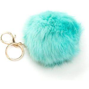 Mint Fluffy Key Chain