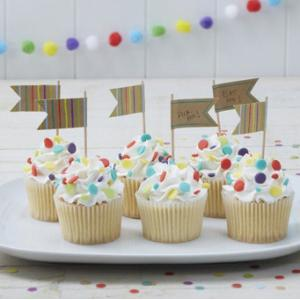 Happy Birthday - Kraft Cupcake Toppers (10)