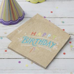Happy Birthday - Kraft Napkins (20)