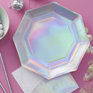 Iridescent Party Foiled Plate (8)