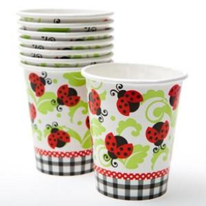 Lively Ladybug Paper Cups (8)