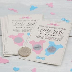 Little Lady or Mini Mister - Scratch Card Game - Girl