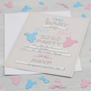 Little Lady or Mini Mister - Invitations - Gender Reveal