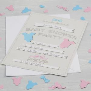 Little Lady or Mini Mister - Invitations - Baby Shower