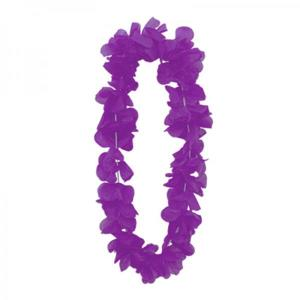 Luau Flower Garland Neon Purple