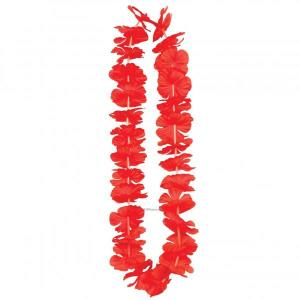 Luau Flower Garland Neon Red