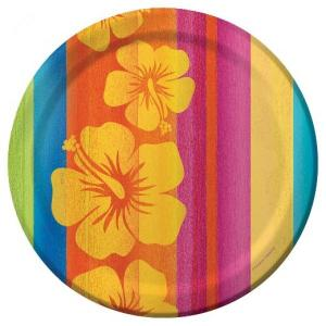 Luau Sunset Plates (8)