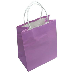 Lavender Gift Bag with White paper handles each