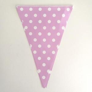 Lavender Dotted Paper Flag Bunting