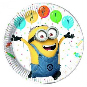 Minion Balloon Party Plates (8)