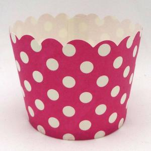 Magenta Dotted Baking Cup (50)