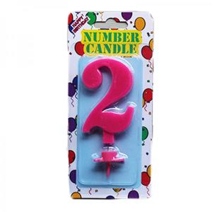 Pink Number Candle 2