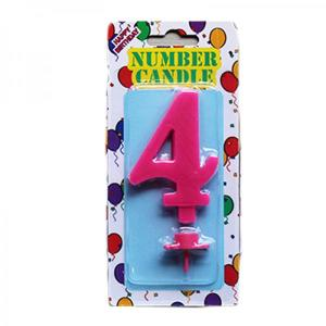 Pink Number Candle 4