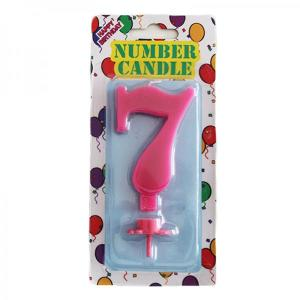 Pink Number Candle 7