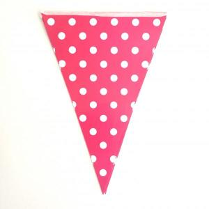 Magenta Dotted Paper Bunting