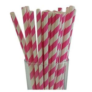 Magenta Party Straws (25)