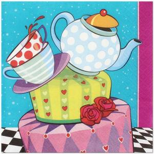 Mad Hatter Lunch Napkins (16)