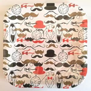 Dapper Man Moustache Large Plates 9 inch (10)
