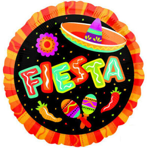 Mexican Fiesta Foil Balloon 18 inch