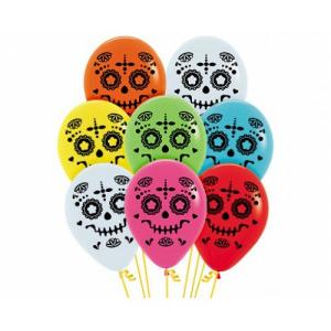 Day of the Dead Balloons Assorted (5)