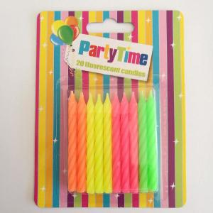 Neon Birthday Candles (20)