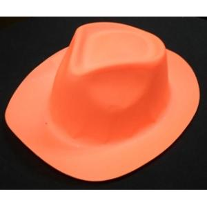 Neon Orange Plastic Hat