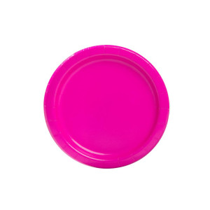 Neon Pink Paper Plates Small (20)