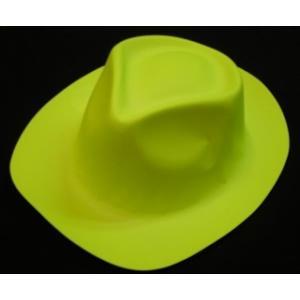 Neon Yellow Plastic Hat