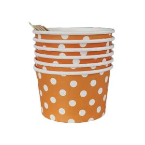 Orange Dotted Ice Cream Cups (6)