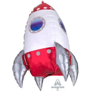 Rocket Ship Supershape Foil Balloon