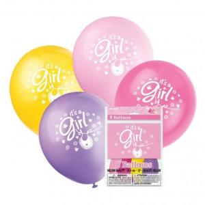 Pink Clothesline Girl Balloons (8)