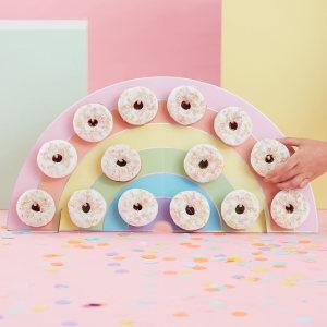 Pastel Party Rainbow Donut Wall