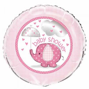Pink Umbrellaphants Foil Balloon
