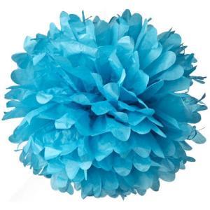 Light Blue Tissue Paper Pom Pom (20cm)