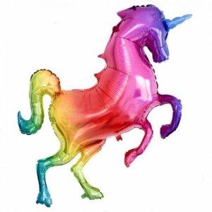 Glitter Rainbow Supershape Unicorn Foil Balloon