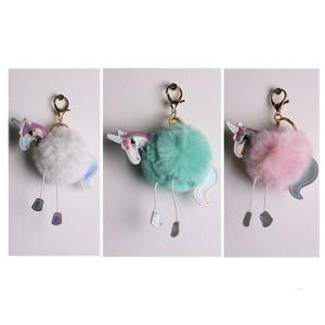Fluffy Unicorn Key Chain (assorted)