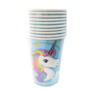Magical Unicorn Blue Paper Cups (10)