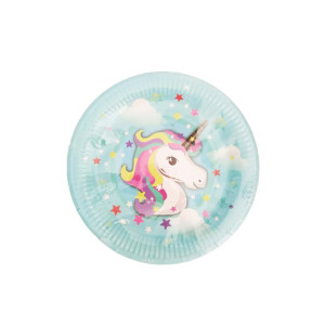 Magical Unicorn Blue Plates Small (10)